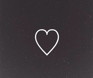 black, love, and heart image