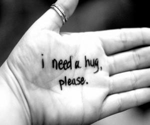 hug, hand, and please image