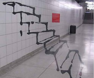 stairs, art, and graffiti image
