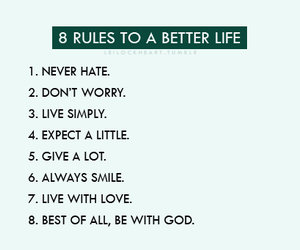 life, rules, and god image
