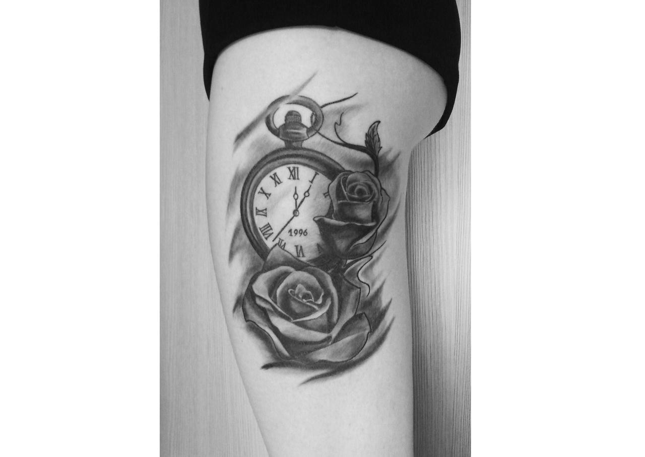Tattoo On Thigh Uploaded By Marta On We Heart It