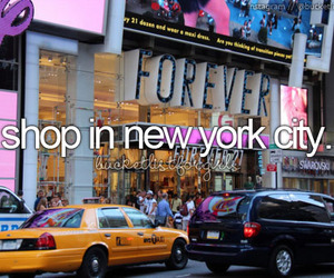 forever 21, new york, and shopping image