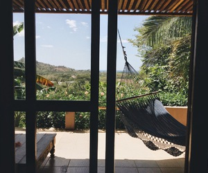 architecture, garden, and hammock image