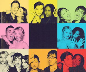 glee, couple, and dianna agron image