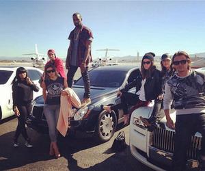 kanye west, kim kardashian, and tyga image
