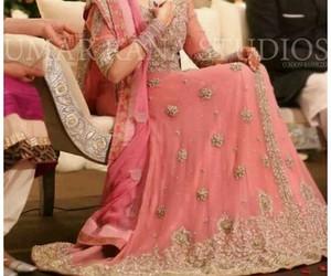 bride, dress, and pakistani image