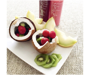coconut, food, and fruit image