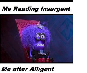 minions, insurgent, and book image