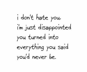 disappointed, hate, and quote image