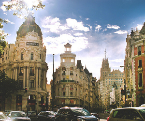 city, madrid, and photography image