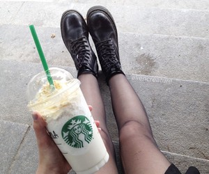 starbucks, black, and grunge image