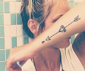 diamond, tattoo, and ink image