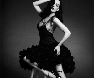 beautiful, black and white, and burlesque image
