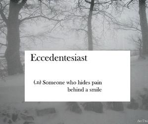 pain, sad, and smile image
