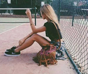 girl, fashion, and nike image