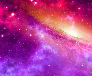 wallpaper, galaxy, and pink image