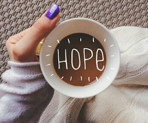 hope, coffee, and nails image
