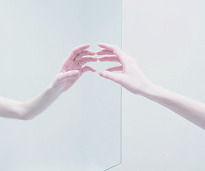 mirror, hand, and tumblr image