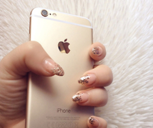 iphone, nails, and cute image