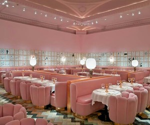 pink, restaurant, and tumblr image