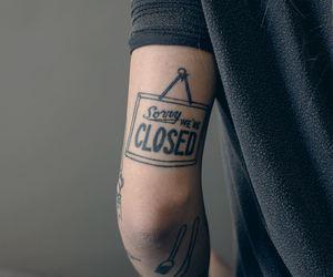 tattoo, black, and closed image