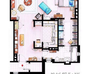 apartment, sex and the city, and Carrie Bradshaw image