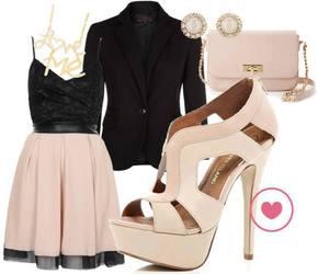 black, high heels, and blazer image