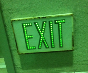 exit, green, and sign image