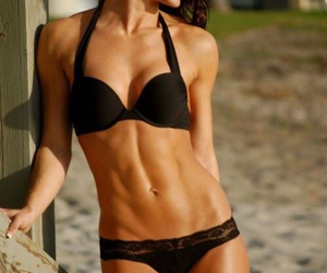 girl, abs, and fit image