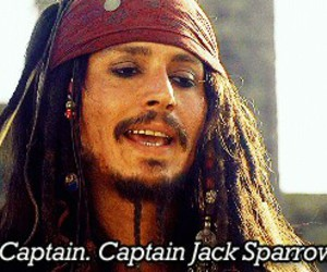 jack sparrow, johnny depp, and captain image