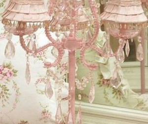 lamp, pink, and shabby chic image