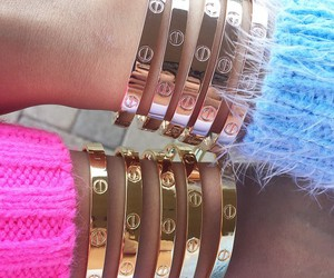 cartier, luxury, and bracelet image