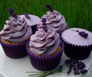 cupcakes, purple, and food image