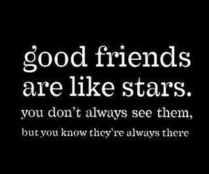 friends, stars, and quote image
