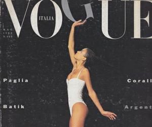 vogue, model, and magazine image