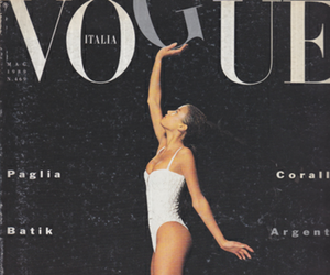 vogue, model, and magazine image