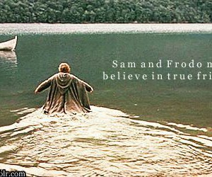 frodo, true friendship, and Sam image
