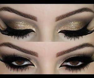 beauty, eyes, and make-up image