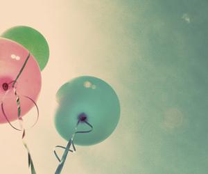 ballons, colorful, and sky image