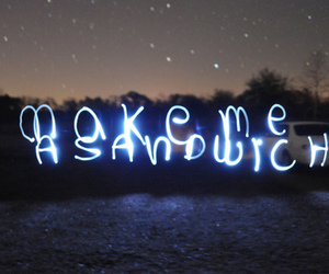 food, letters, and glow image
