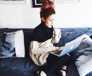 beautiful, clothes, and coffee image