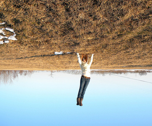 handstand and sky image