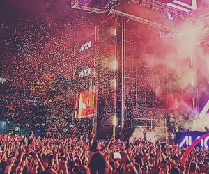 avicii, concert, and rave image