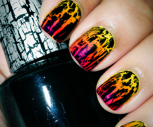nails, black, and crackle image