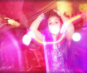 girl, lights, and party image