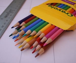 colored pencils, pencil, and colorful image