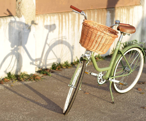 accessories, basket, and bicycle image