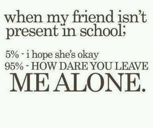 friends, school, and alone image