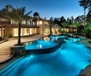 luxury, house, and pool image