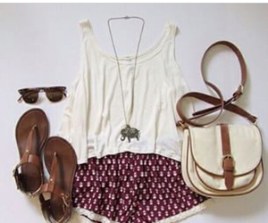clothes, purse, and sandals image